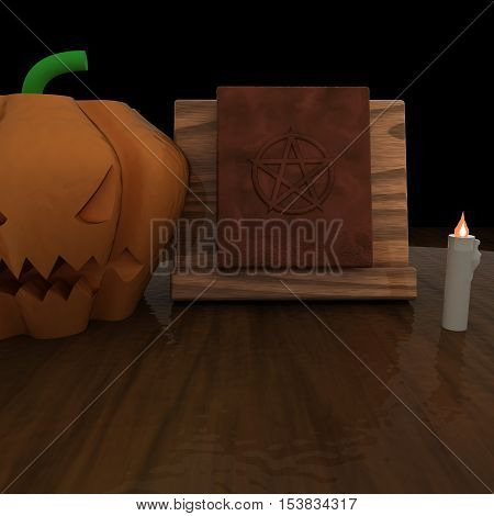 Witch Table With Book