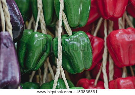 Bell pepper  vegetable, model close up background