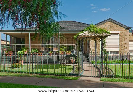 Suburban House With A Neat And Tidy Garden
