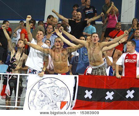 AFC Ajax Fans Celebrate After Scoring A Goal