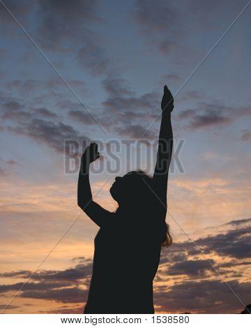 Silhouette Praising