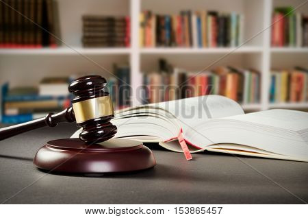 Justice Concept In Court Library