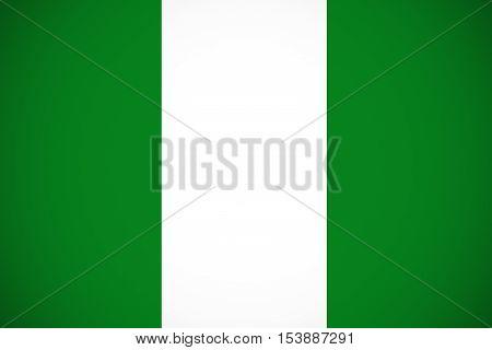 Nigeria flag ,Nigeria national flag illustration symbol.