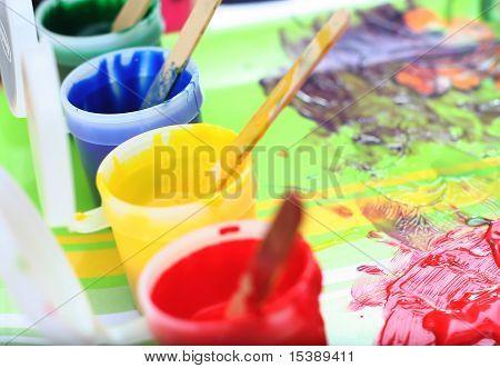 Messy Children's Paint Set