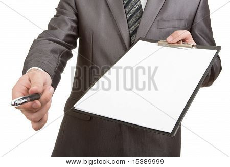 Pen For Your Signature On Clipboard