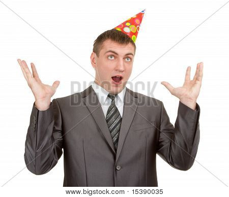 Happy Businessman In Hat