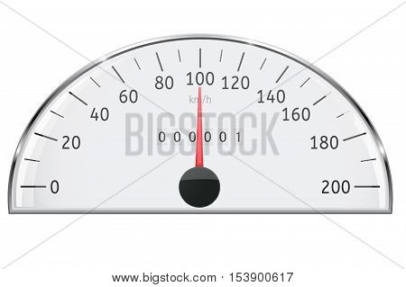 Speedometer. Semi circle speed gauge scale. Vector illustration isolated on white background