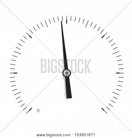 Gauge scale. Universal round dial. Vector illustration isolated on white background