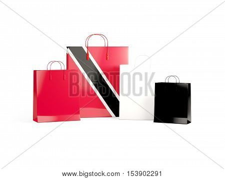 Flag Of Trinidad And Tobago On Shopping Bags