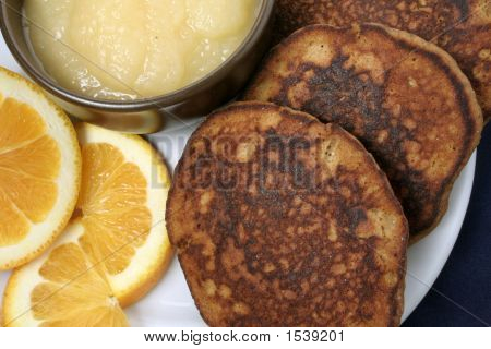 Wheatless Ginger Pancakes, Closeup
