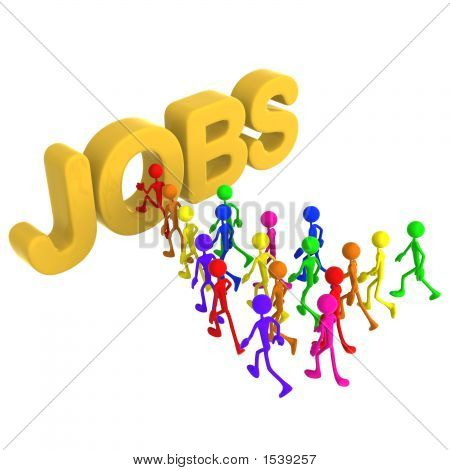 Full Spectrum Jobs Employment Search Concept
