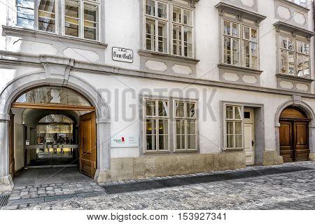 Mozarthaus  In Vienna.