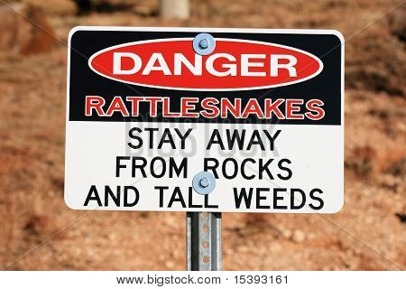 Danger Rattlesnakes Sign