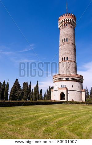 Tower of San Martino della Battaglia near the Garda Lake in neo-gothic style of the year 1878 - Celebration of the Italian Risorgimento