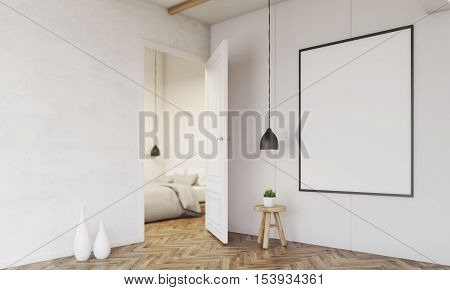 Corridor With A Glimpse At Bedroom