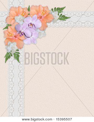 Easter Spring Bouquet floral corner