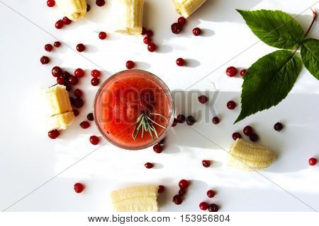 diet of watermelon smoothie banana and cranberry
