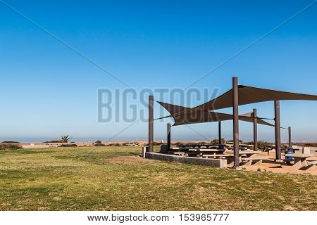 Monument Mesa at Border Field State Park in San Diego, California, the most Southwesternly park in the United States, on the San Diego-Tijuana border.