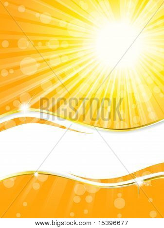 Sunshine banner with transparencies, vertical