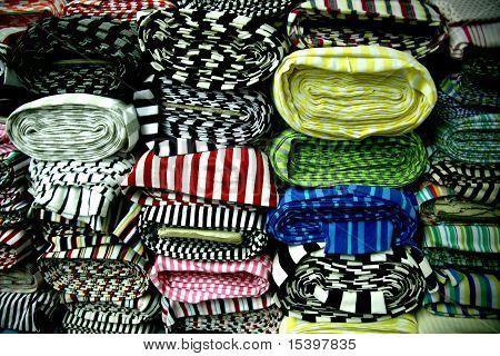 Fringe Cotton sample  fabric