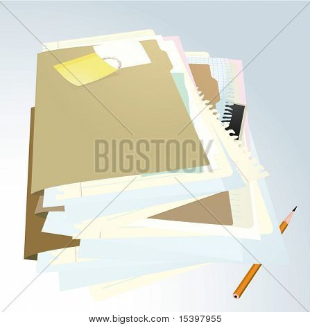Documents folder #2. Vector illustration.