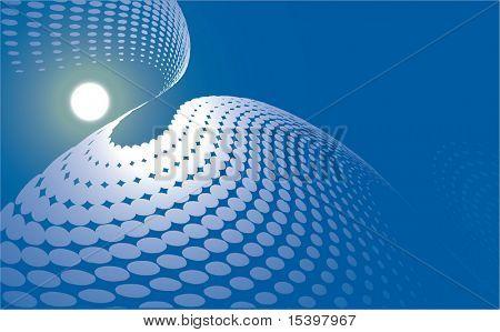 Vector fractal background #5
