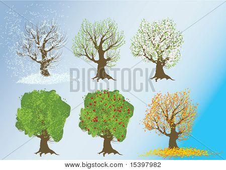 Die Jahreszeiten. Vektor-illustration