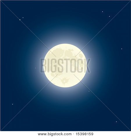 Luna. Ilustración del vector.