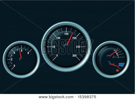 Speedometer. Vector
