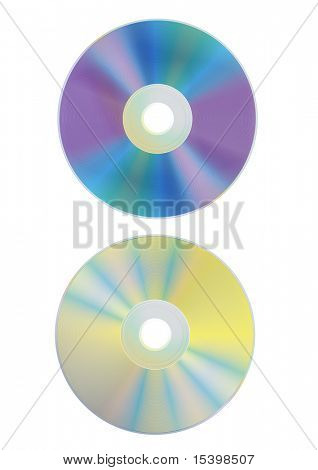 DVD and CD disks. Vector