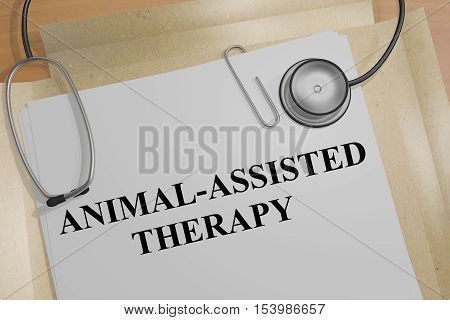 Animal-assisted Therapy - Medical Concept