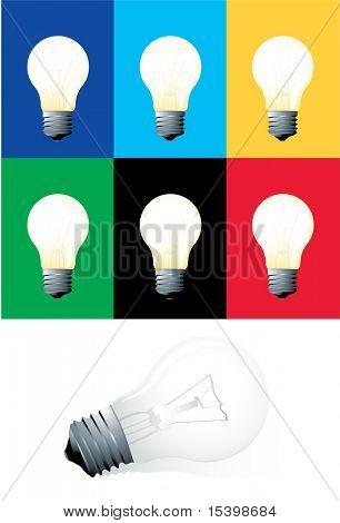 Electric bulbs. Vector.