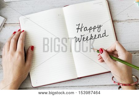 Happy Weekend Relaxation Saturday Enjoy Free Concept