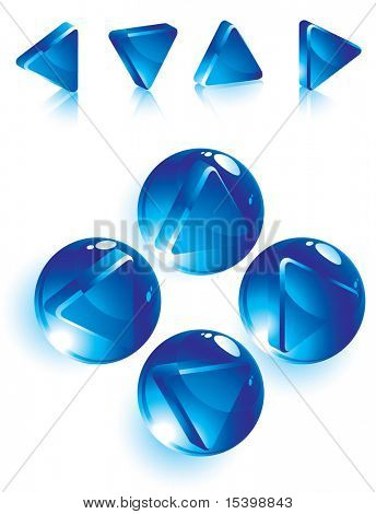 Liquid navigation icons. Vector
