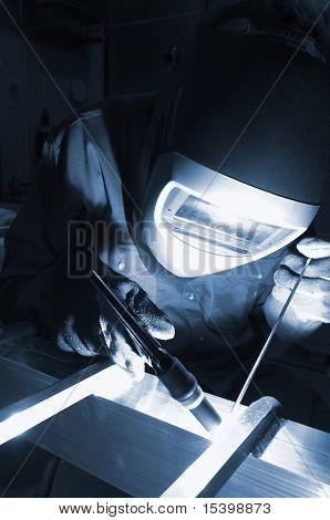 welder in action