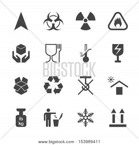 Products info for transportation icon set icons on containers 2d vector icons without pads on white background eps 8
