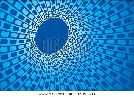 Digital vortex. Vector background.