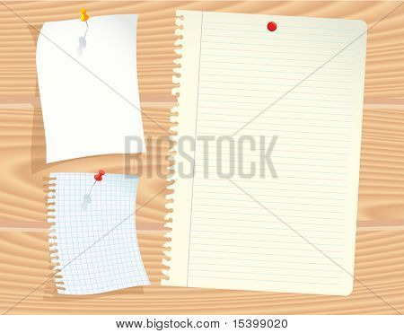 Office papers. Vector.