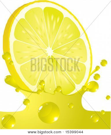 Lemon splash. Vector.