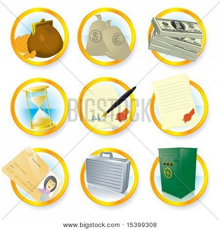 Vector icon set. Finance.