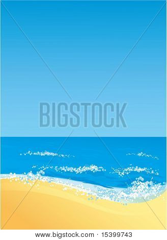 Ocean shore. Vector background.