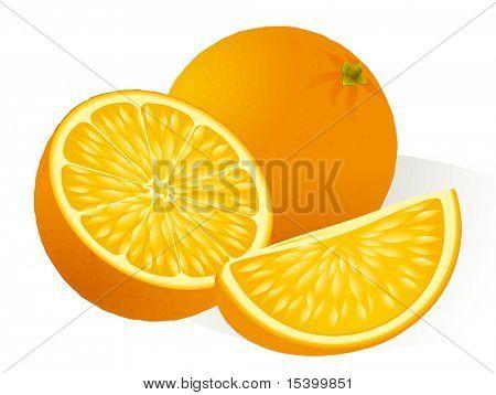Orange. Vector.