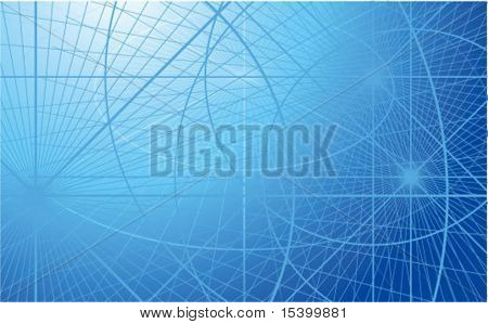 Blue Abstract. Vector Hintergrund.