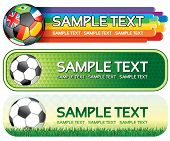 Soccer colorful banners for your design