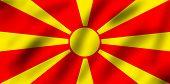 foto of former yugoslavia  - Flag of former Yugoslav Republic Macedonia 3d illustration - JPG
