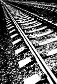 stock photo of train track  - Railroad track - JPG