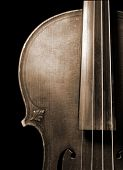pic of musical instrument string  - Part of vintage violin - JPG