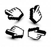 Постер, плакат: 3D рука указатели