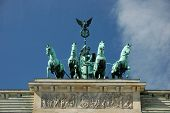 Quadriga On The Brandenburger Gate In Berlin