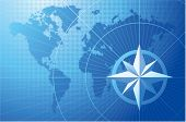picture of compass rose  - Blue compass - JPG